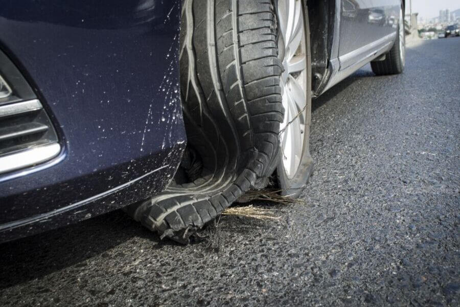 Roadside Tire Blowout
